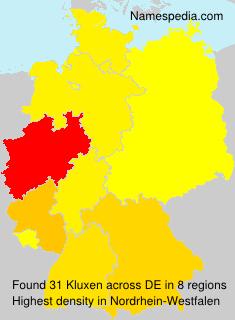 Surname Kluxen in Germany