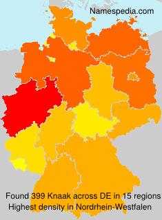 Surname Knaak in Germany