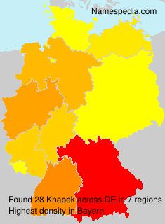 Surname Knapek in Germany