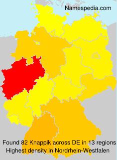 Surname Knappik in Germany