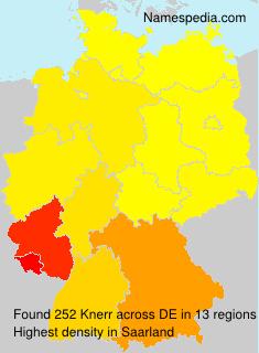 Familiennamen Knerr - Germany
