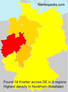 Familiennamen Knetter - Germany