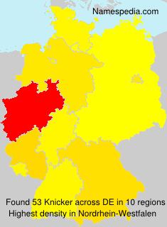 Surname Knicker in Germany