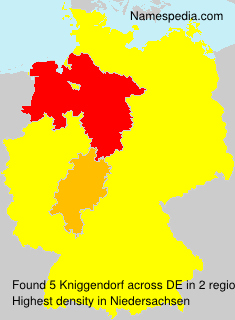 Surname Kniggendorf in Germany