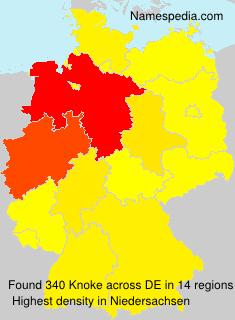 Familiennamen Knoke - Germany