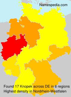 Surname Knopek in Germany