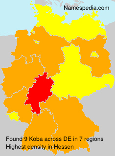 Surname Koba in Germany