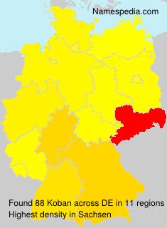 Surname Koban in Germany
