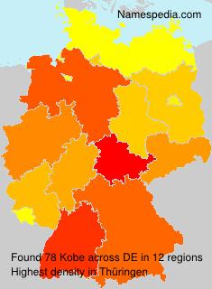 Surname Kobe in Germany