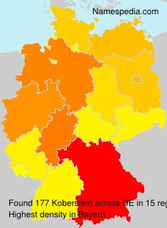 Surname Koberstein in Germany