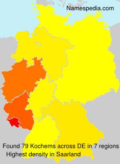 Surname Kochems in Germany