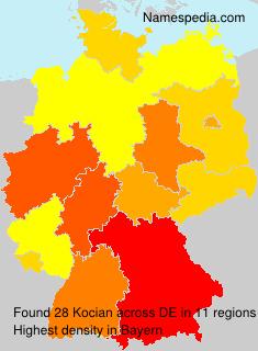 Familiennamen Kocian - Germany