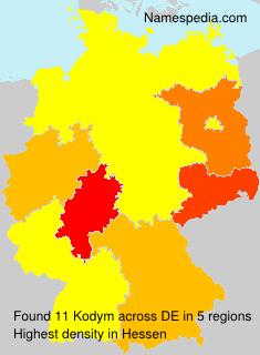 Surname Kodym in Germany