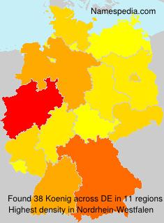 Familiennamen Koenig - Germany