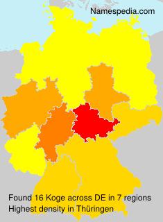 Surname Koge in Germany