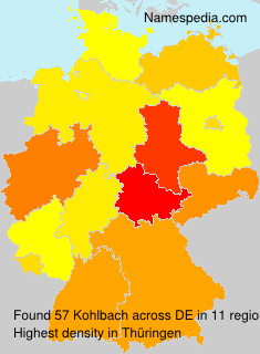 Surname Kohlbach in Germany