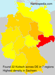 Surname Koitsch in Germany