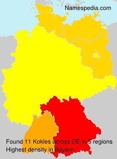 Surname Kokles in Germany