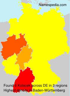 Surname Kolacek in Germany