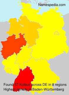 Surname Kolbus in Germany