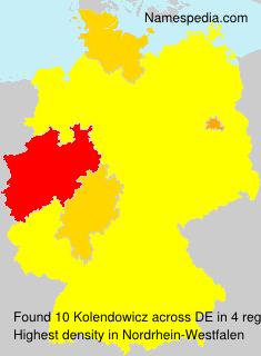 Familiennamen Kolendowicz - Germany