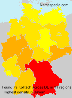 Surname Kolitsch in Germany