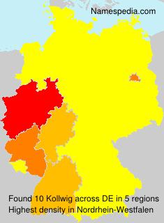 Familiennamen Kollwig - Germany
