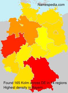 Familiennamen Kolm - Germany