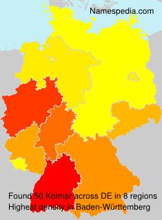 Surname Kolmar in Germany