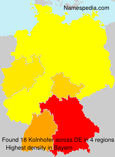 Familiennamen Kolnhofer - Germany