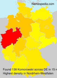 Familiennamen Komorowski - Germany