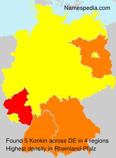 Surname Konkin in Germany