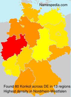 Familiennamen Konkol - Germany