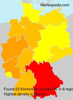 Familiennamen Kononenko - Germany