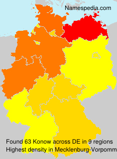 Surname Konow in Germany