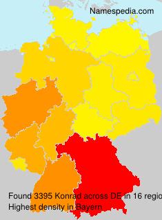 Surname Konrad in Germany
