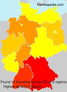 Familiennamen Konschuh - Germany