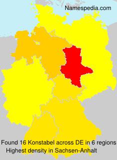Surname Konstabel in Germany