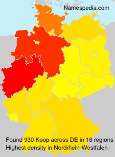 Surname Koop in Germany