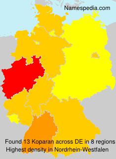 Familiennamen Koparan - Germany
