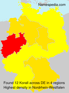 Surname Korall in Germany
