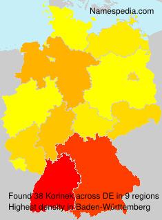 Surname Korinek in Germany