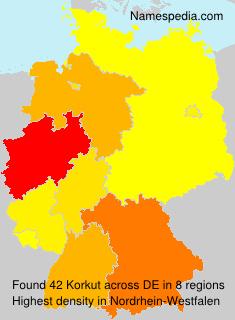 Surname Korkut in Germany