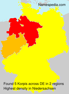 Surname Korpis in Germany