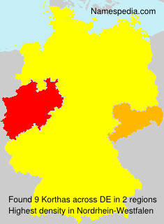 Surname Korthas in Germany