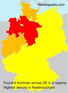 Surname Kortman in Germany