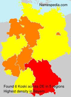 Surname Koski in Germany