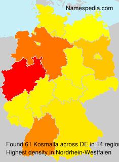 Surname Kosmalla in Germany