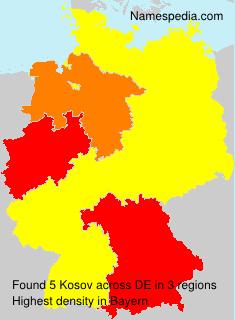 Surname Kosov in Germany