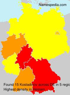 Familiennamen Kostadinov - Germany